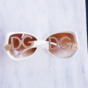 DG Accessories - New White & Gold DG Sunglasses Women's Designer